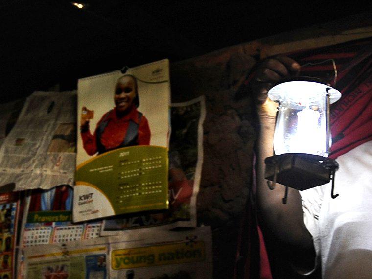 A woman with a lantern