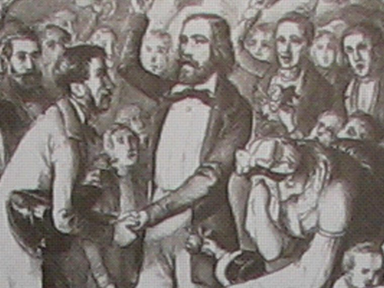 Illustration of German rebels