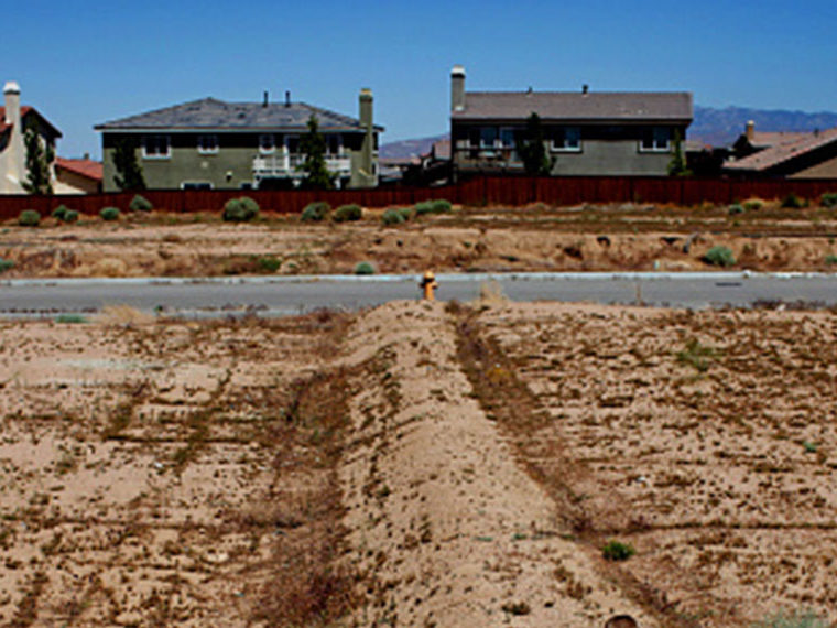 Suburban neighborhood under contstruction