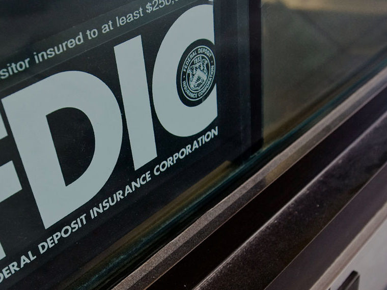 FDIC logo on a window