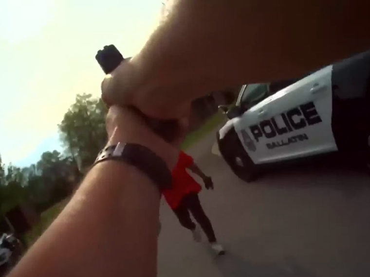 Police body cam point of view