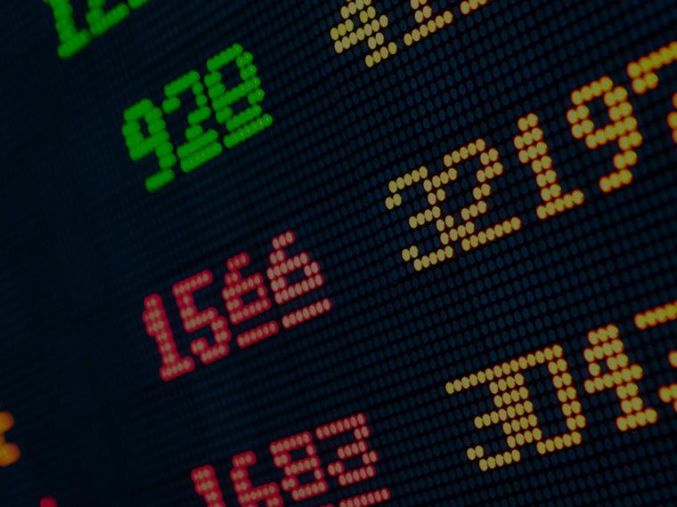 LED stock market ticker