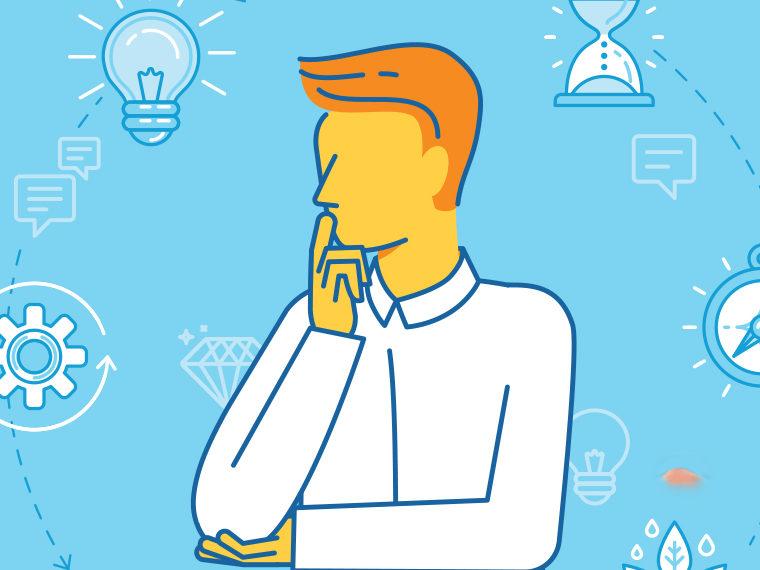 Illustration of a man thinking