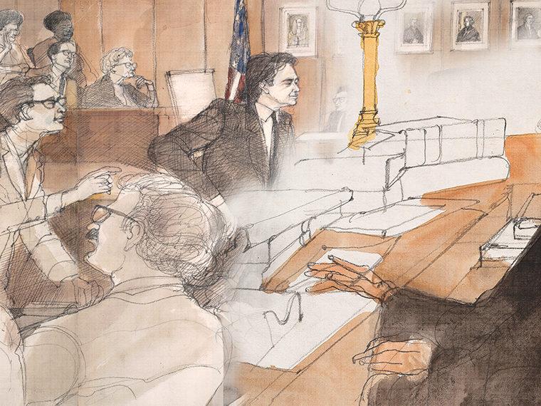 Courtroom illustration