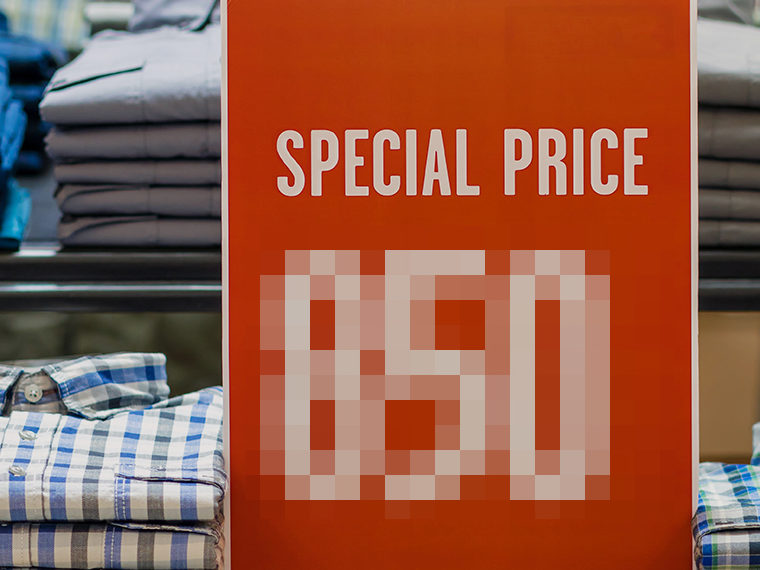 Censored pricing at a store - Sale Price