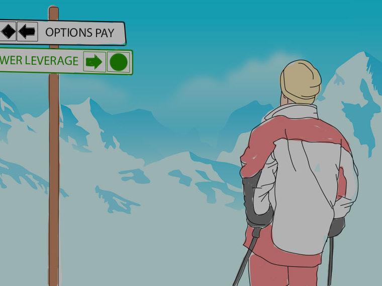 Illustration of a man skiing
