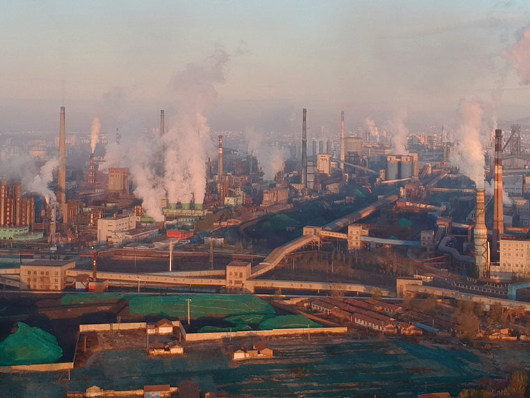 Smokey factories in China