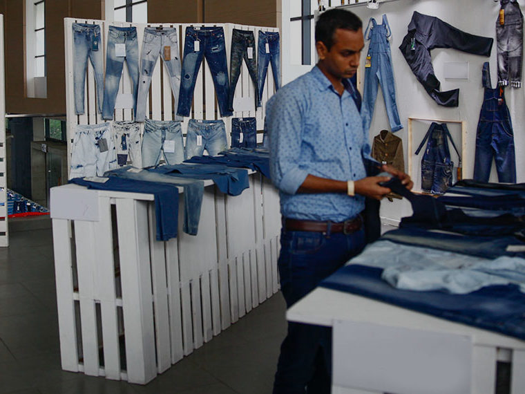 Man buying jeans