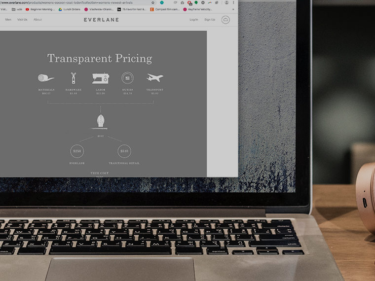 Laptop computer with Transparent Pricing presentation
