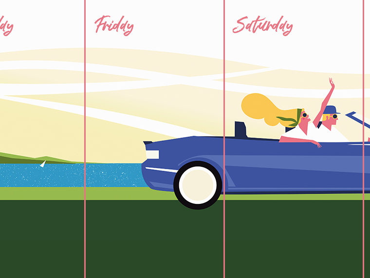 Illustration of a convertible car
