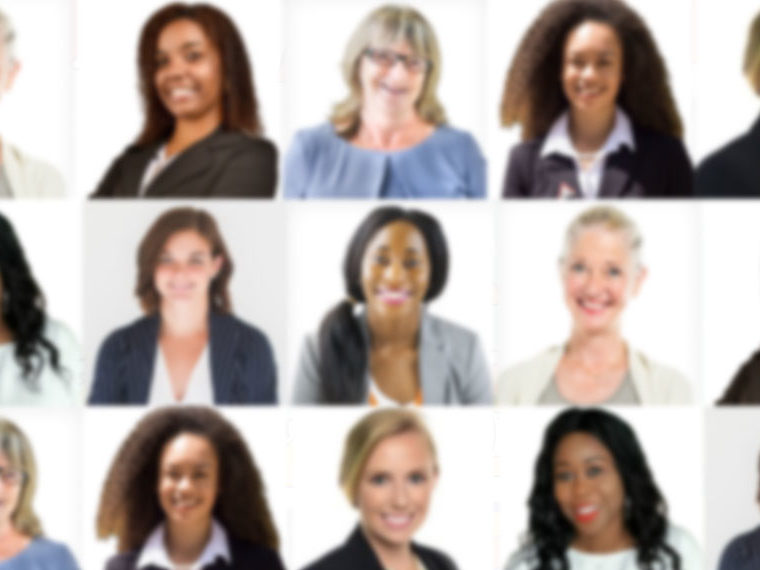 Collage of diverse business women
