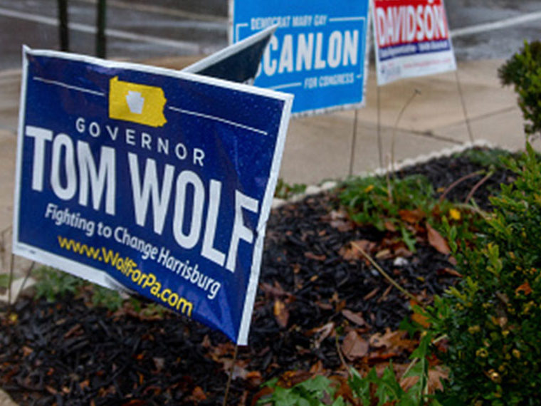 Tom Wolf political lawn sign