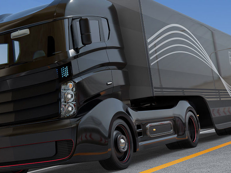 Autonomous trucks on the road