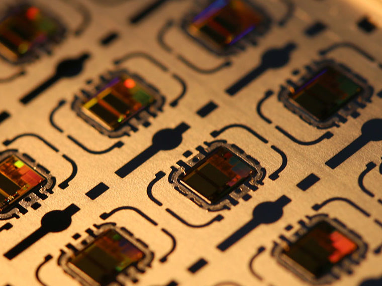 Closeup of microchips